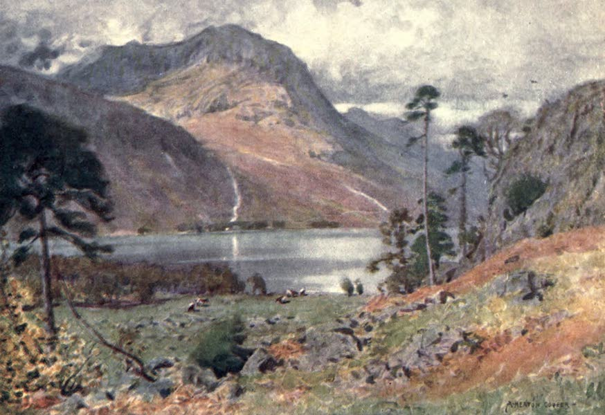 The English Lakes Painted and Described - Head of Buttermere (1908)