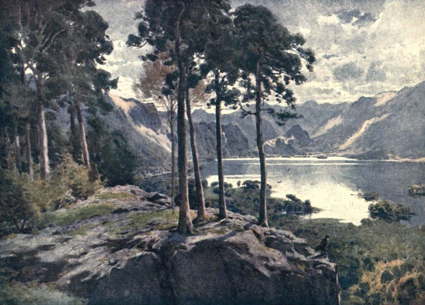 The English Lakes Painted and Described - Derwentwater, from Castle Head (a bright morning) (1908)