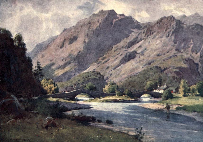 The English Lakes Painted and Described - Grange in Borrowdale (early morning) (1908)