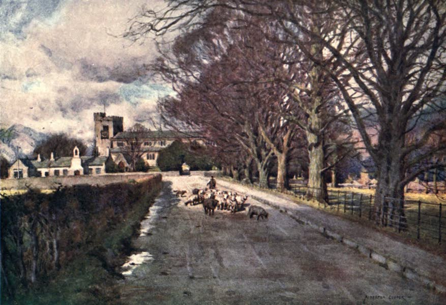 The English Lakes Painted and Described - Crosthwaite Church, Keswick (1908)