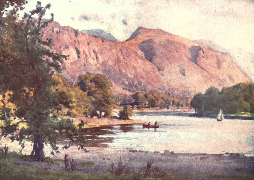 The English Lakes Painted and Described - Falcon Crag, Derwentwater (1908)