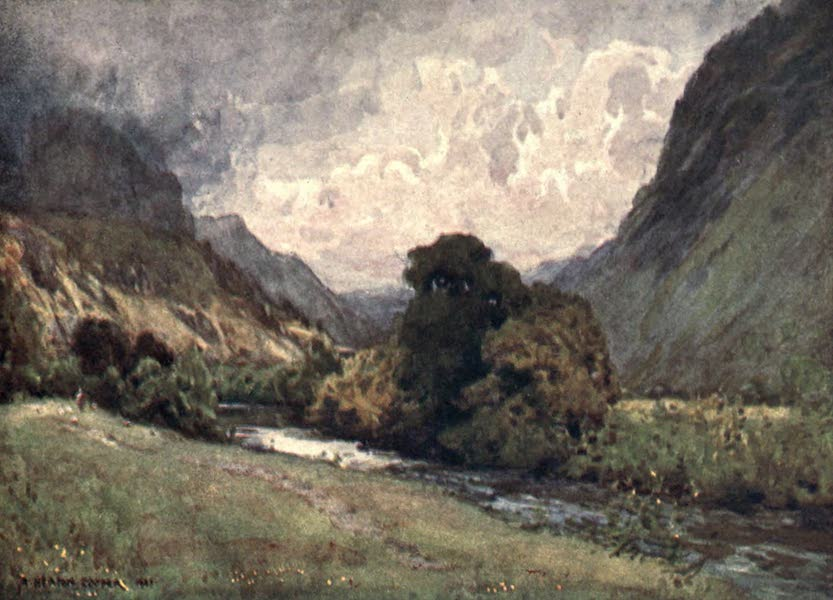 The English Lakes Painted and Described - The Vale of St. John, near Keswick (1908)