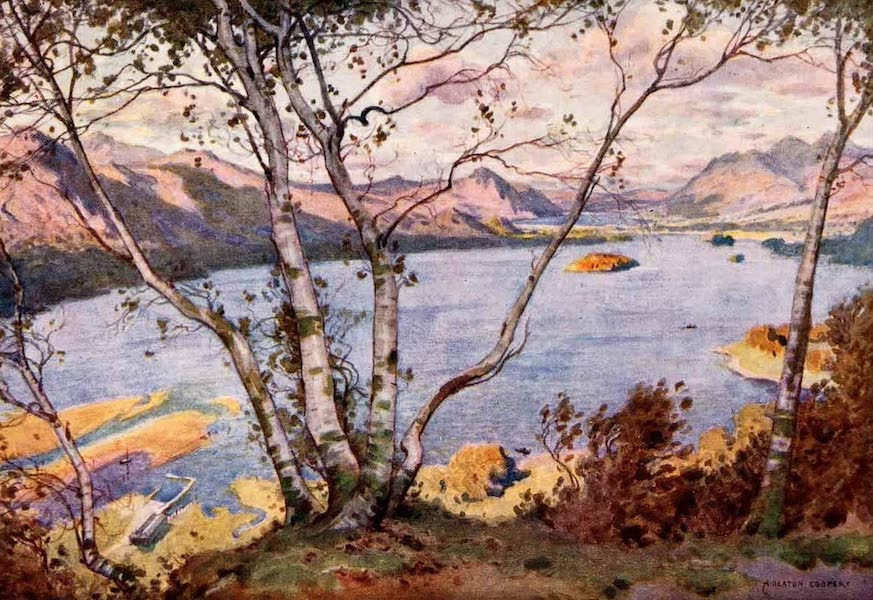 The English Lakes Painted and Described - Derwentwater and Bassenthwaite Lake, from High Lodore (1908)