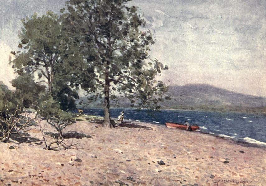 The English Lakes Painted and Described - Bassenthwaite Lake (a breezy morn) (1908)