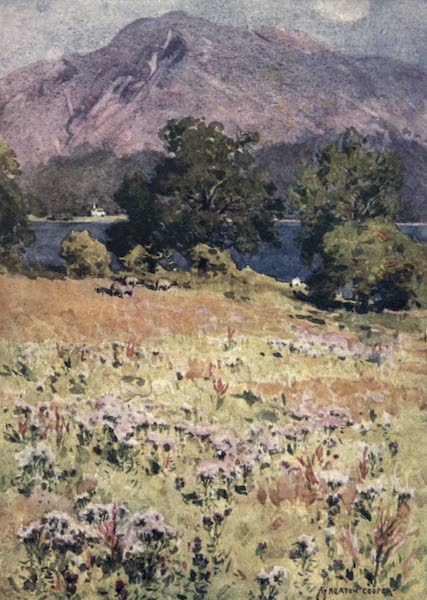 The English Lakes Painted and Described - Bassenthwaite Lake and Skiddaw (1908)