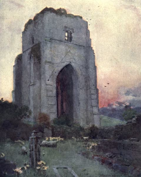 The English Lakes Painted and Described - Shap Abbey (1908)