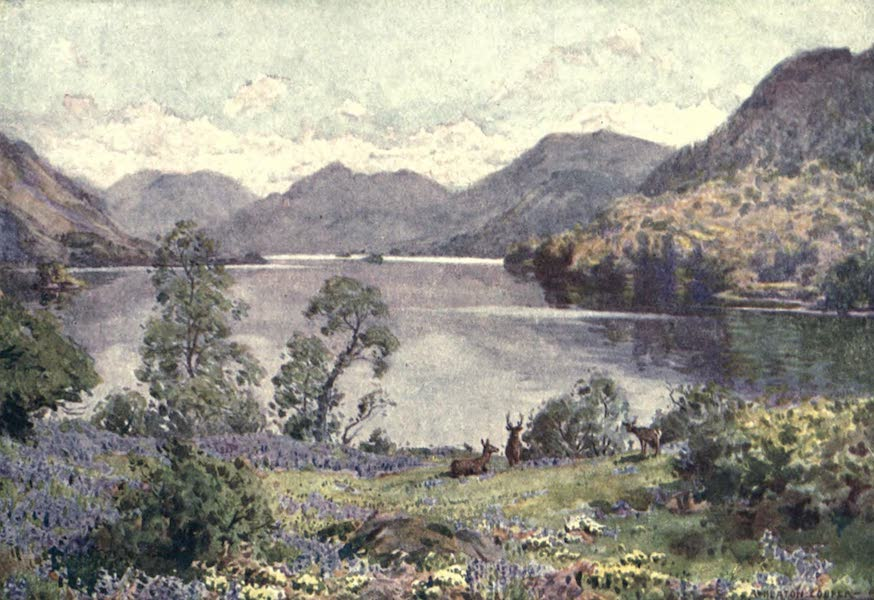 The English Lakes Painted and Described - Ullswater, from Gowbarrow Park (a sultry June morn) (1908)