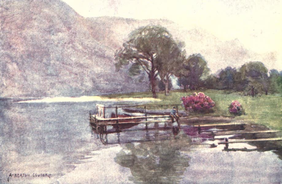 The English Lakes Painted and Described - Hazy Twilight, Head of Ullswater (1908)