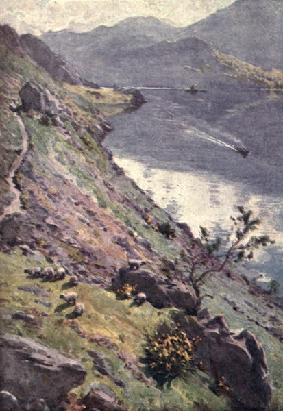 The English Lakes Painted and Described - A Mountain Path, Sandvvick, Ullswater (1908)