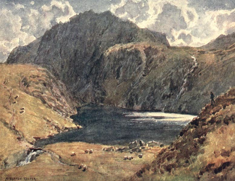 The English Lakes Painted and Described - Angle Tarn, Esk Hause (1908)