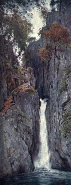 The English Lakes Painted and Described - Dalegarth Force, Eskdale (1908)
