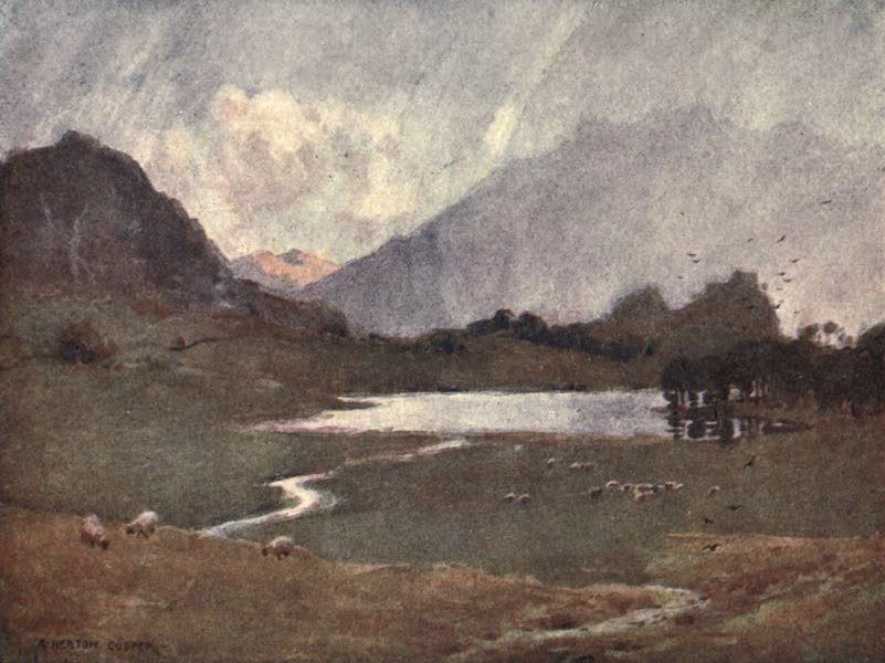 The English Lakes Painted and Described - A Sudden Shower, Blea Tarn (1908)