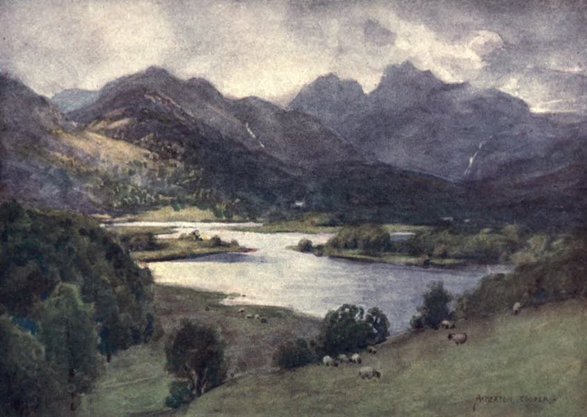 The English Lakes Painted and Described - Elterwater and Langdale Pikes (1908)