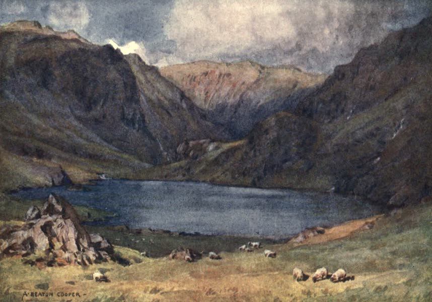 The English Lakes Painted and Described - Seathwaite Tarn, Duddon Valley (1908)