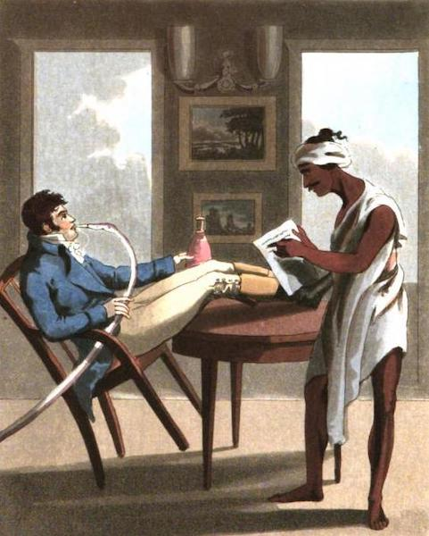 The European in India - A Gentleman with his Sircar, or Money-Servant (1813)