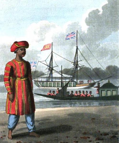 The European in India - Marquis Wellesley's Dandy, or Boatman, in his Livery (1813)