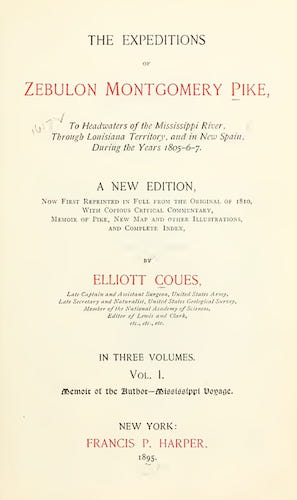 New York Public Library - The Expeditions of Zebulon Montgomery Pike Vol. 1