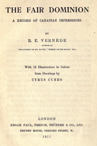 The Fair Dominion - Title Page (1911)