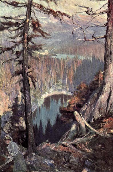 The Fair Dominion - Looking from Lake Agnes Down on Lakes Mirror and Louise (1911)