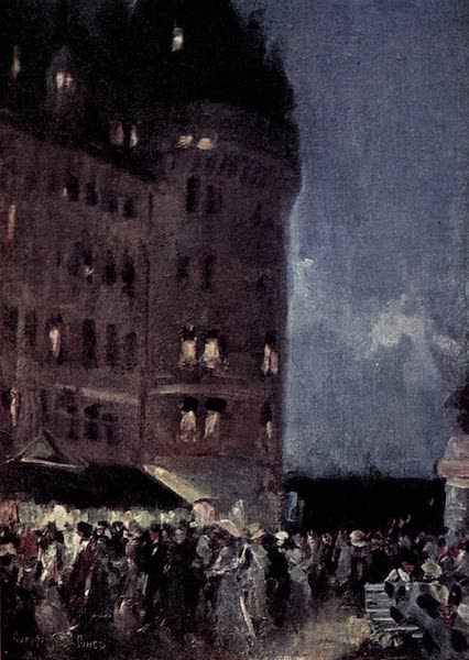 The Fair Dominion - Chateau Frontenac and Dufferin Terrace. Night. Quebec (1911)