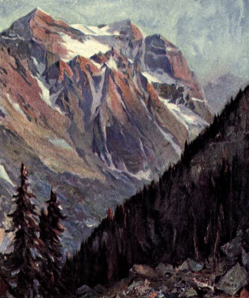 The Fair Dominion - Mount Lefroy. Canadian Rockies (1911)