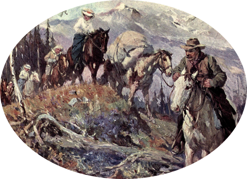The Fair Dominion - On the Trail, Yoho Valley (1911)