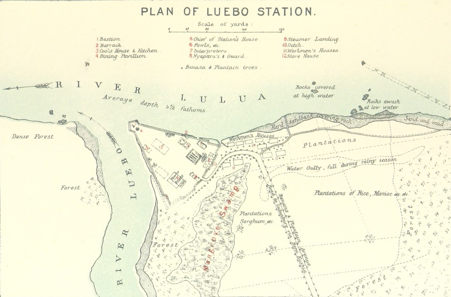 The First Ascent of the Kasai - Plan of Luebo Station (1889)