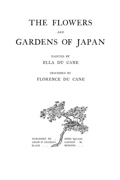 The Flowers and Gardens of Japan - Title Page (1908)