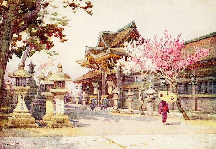 The Flowers and Gardens of Japan - At Kitano Tenjin (1908)