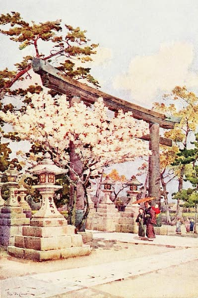 The Flowers and Gardens of Japan - White Cherry at Kitano (1908)