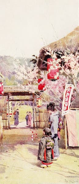 The Flowers and Gardens of Japan - The Gate of the Plum Garden (1908)