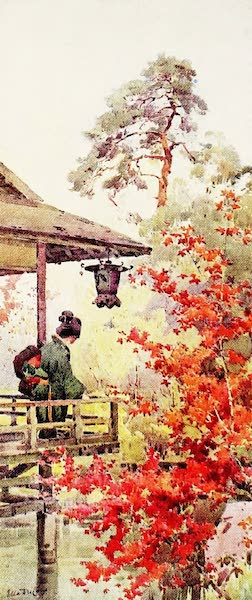 The Flowers and Gardens of Japan - Viewing the Maples (1908)