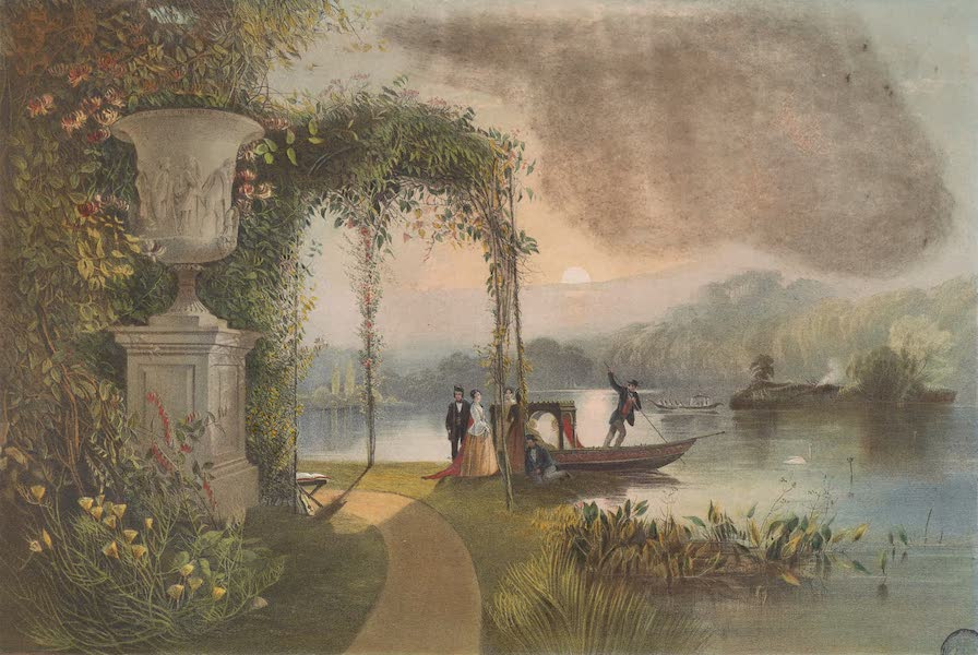 The Gardens of England - The Lake, Trentham Hall Gardens (1858)