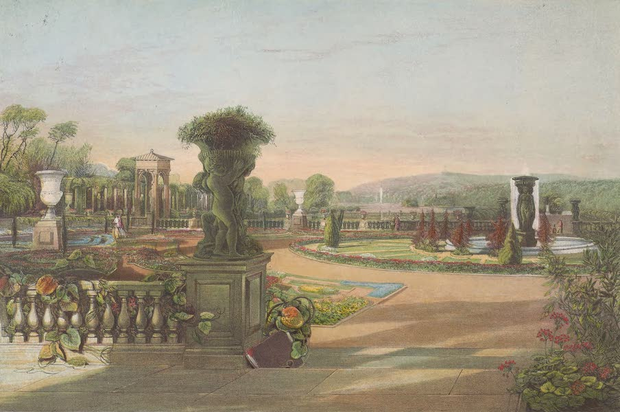 The Gardens of England - The Parterre, Trentham Hall Gardens (1858)