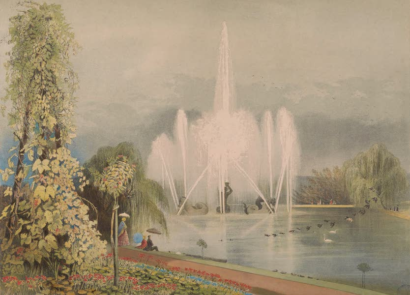 The Gardens of England - The Great Fountain, Enville Gardens (1858)