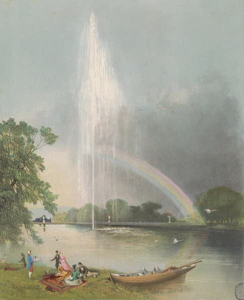 The Gardens of England - The River Horse Fountain, Enville (1858)