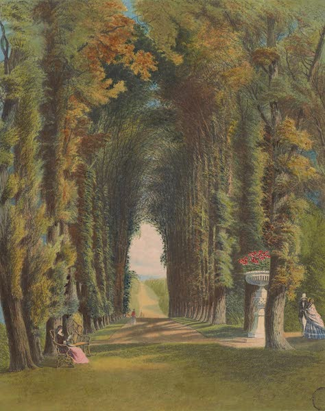 "The Gardens of England - ""Vista"", in the Gardens at Teddesley (1858)"