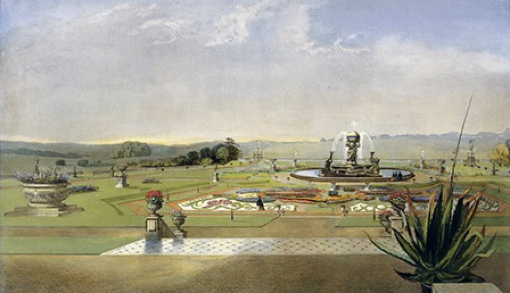 "The Gardens of England - ""The Parterre"", Castle Howard (1858)"