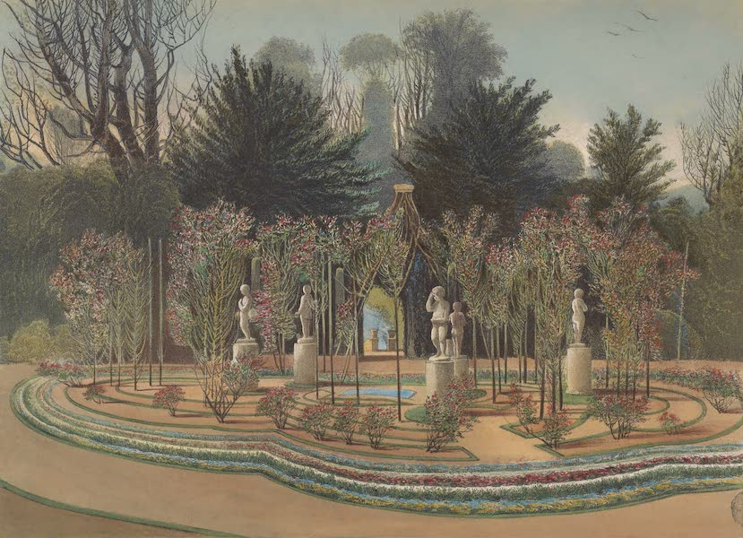 The Gardens of England - The Rose Garden, Nuneham (1858)