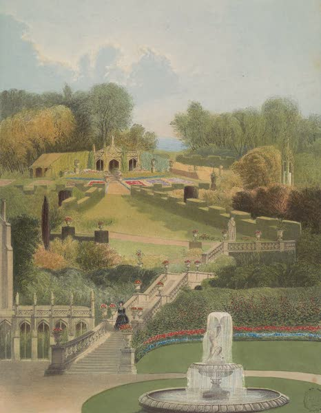 The Gardens of England - The Garden on the Hill Side, Castle Combe (1858)
