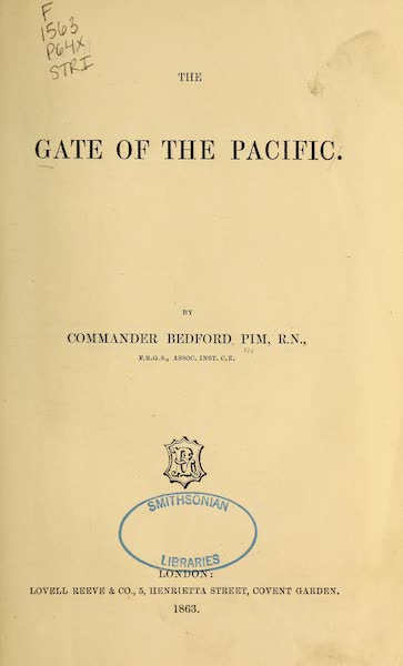 The Gate of the Pacific - Title Page (1863)
