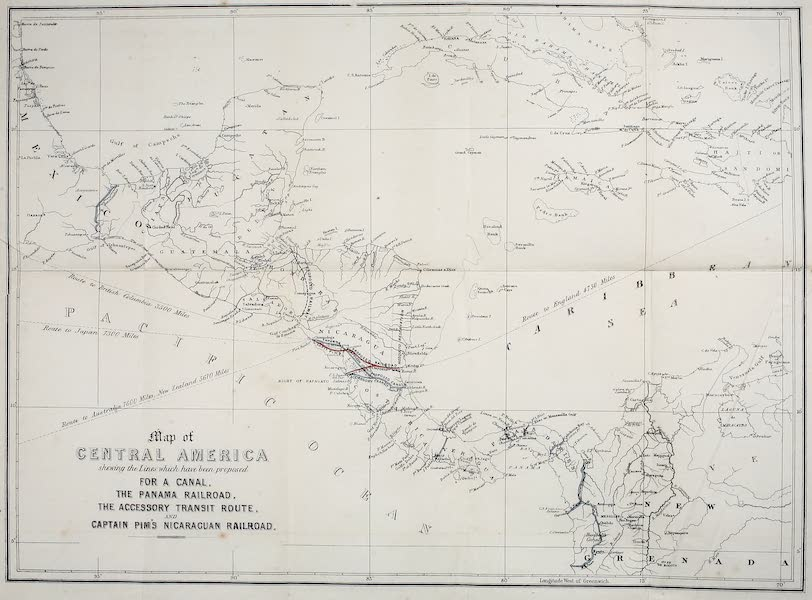 The Gate of the Pacific - Map of Central America (1863)