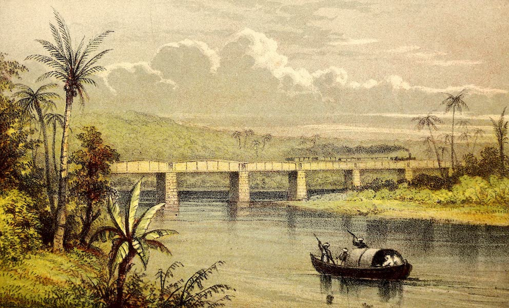 The Gate of the Pacific - The Bridge over the Chagres, Half-way across the Isthmus (1863)
