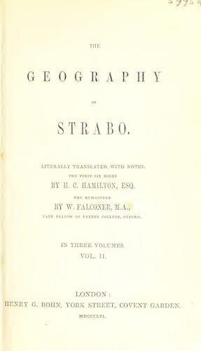 Ancient History - The Geography of Strabo Vol. 2