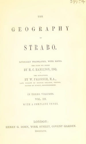 Wellcome Collection - The Geography of Strabo Vol. 3