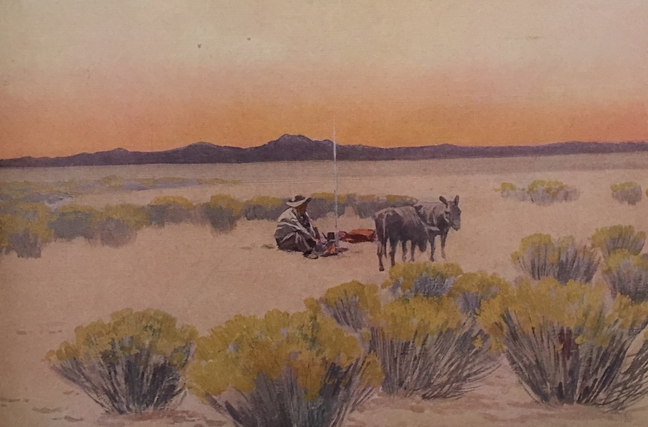 The Great Southwest - Arizona Afterglow, After Painting by Fernand Lungren (1919)