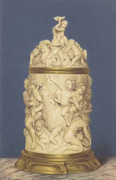 The Green Vaults Dresden - Tankard or Drinking Cup in Carved Ivory, Mounted in Silver Gilt. Flemish (1862)