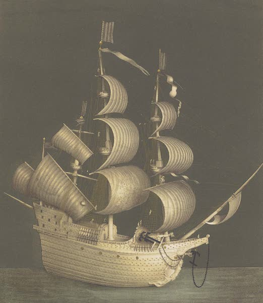 The Green Vaults Dresden - Model of a Dutch Frigate of ancient form, in ivory (1862)