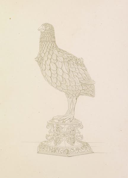 The Green Vaults Dresden - A small Flask or Bottle, silver gilt, in the form of a Partridge (1862)