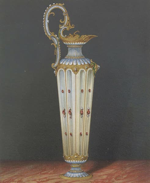 The Green Vaults Dresden - B. Small Vase of Chalecedony supporting a watch (1862)